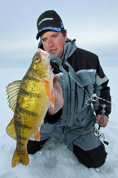 Ice fishing tactics for first ice.