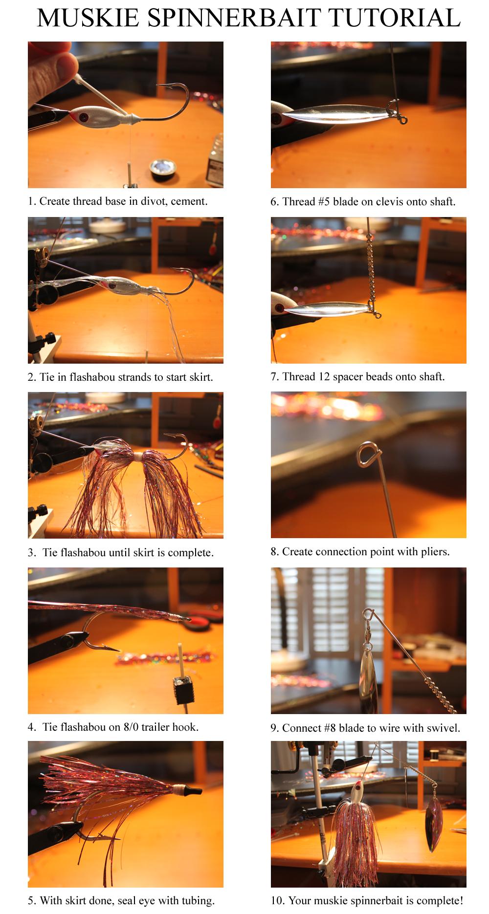 muskie spinnerbait tutorial