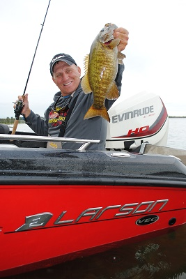 If you're after smallmouth bass and they're being finicky in the summer, backtrolling a live bait rig with either a leech or night crawler is a great way to catch them.